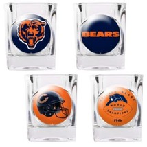Chicago Bears NFL 4 PC Collectors Shot Glass Set Sold By Neoplex - $29.65