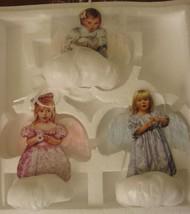 Heavens Little Angels 3 Christmas Angel Cherub Ornaments Bradford 1999 MIB - $39.99