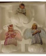Heavens Little Angels 3 Christmas Angel Cherub Ornaments Bradford 1999 MIB - $39.99