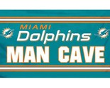 MIAMI DOLPHINS - MAN CAVE 3'x 5' Officially Licensed Banner Flag 4 GROMMETS NFL