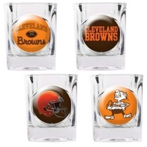 Cleveland Browns NFL 4 PC Collectors Shot Glass Set  Sold By Neoplex - $30.64