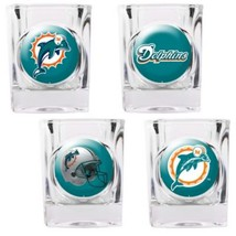 Miami Dolphins NFL 4 PC Collectors Shot Glass Set Sold By Neoplex - $30.64