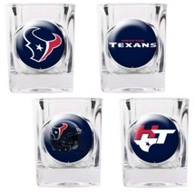 Houston Texans NFL 4 PC Collectors Shot Glass Set Sold By Neoplex - $30.64