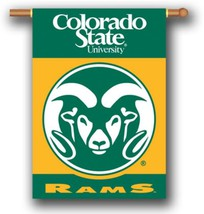 """Colorado State Rams 2 Sided 28"""" x 40"""" House Banner Flag W/ Pole Sleeve - $24.65"""