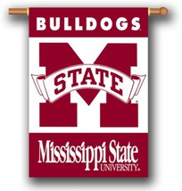 """Mississippi State Bulldogs 2 Sided 28"""" x 40"""" House Banner Flag W/ Pole S... - $24.65"""