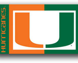 Miami Hurricanes 3 x 5 NCAA Banner Flag