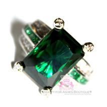 Womens Ladies Emerald Green City Princess Cocktail Wedding Crystal Glitz... - $49.00