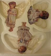 Heavens Little Angels 3 Christmas Angel Cherub Ornaments Bradford 1998 MIB - $39.99