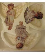 Heavens Little Angels 3 Christmas Angel Cherub Ornaments Bradford 1998 MIB - $39.99