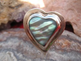 Vintage Mexico Sterling Silver and Abalone shel... - $40.00