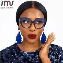 Cat Eye Anti Blue Light Optical Glasses Women Men Vintage Clear Glasses Eyeglass image 4