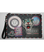 New Gucci GG Tiger UFO Blind For Love Wristlet Pouch - $1,089.00