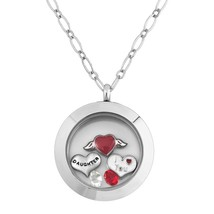 Daughter I Love You Floatimg Charms Memory Living Locket Magnetic  - $55.55