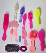 Lot Vintage Doll Hair Brushes Roller Hand Mirror - $9.80