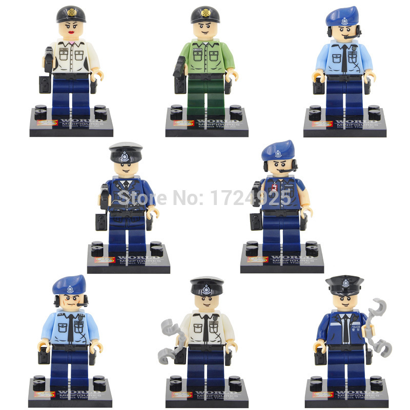 SA set SY278 minifigure blocks lego City Police SWAT Military Bricks Children To, used for sale  USA