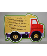 Dump Truck Under Construction wall hanging for Baby boys room  CUTE!!! - $7.50