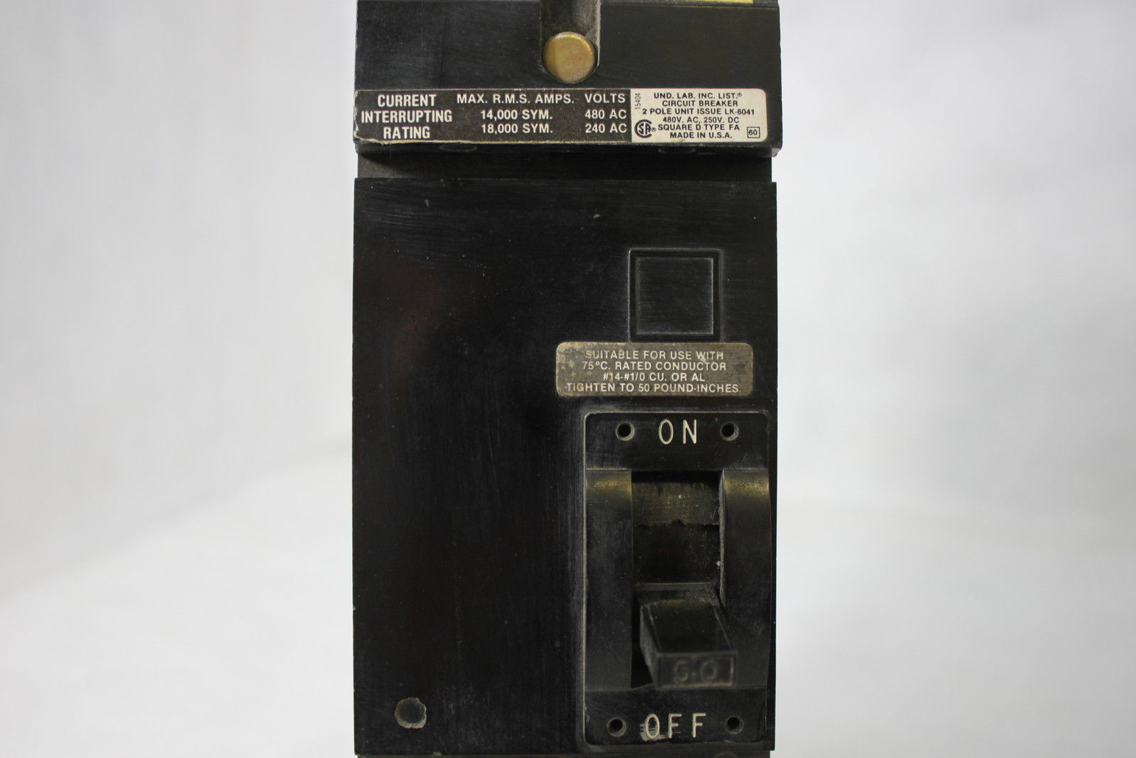 Square D Circuit Breaker 50a 2pole 240v And 50 Similar Items About Siemens Murray Mp3030 30 Amp Single Pole 2 Fa2426015ab Used