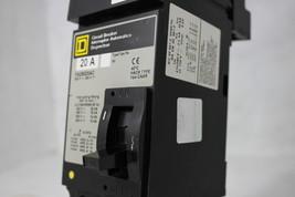 Square D 20A Circuit Breaker Interruptor FA26020AC Type FA 600V CAAR image 2