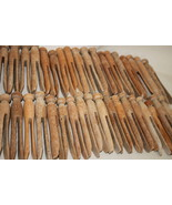 Lot of 90 Vintage Wooden Wood Round Head Clothe... - $32.95