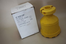 Rodale C630-DF Yellow 2 Pole 3Wire Flip Seal 30A-250v Female Connector 8... - $48.46