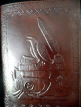 A5 Raven Wicca Book of Shadows or Journal - Handmade Leather - Choice of... - $31.00