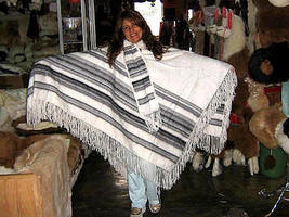 White Poncho, Cape made of alpaca wool fabric - $148.00