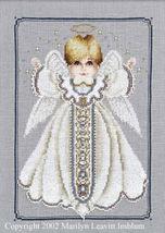Angel Boy Button Box Baby cross stitch Butternut Road Marilyn Leavitt-Imblum - $7.20