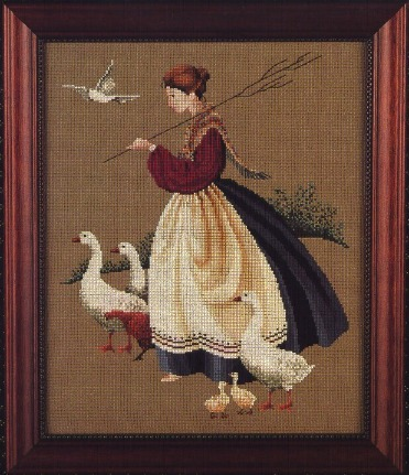 Primary image for Feather and Friends cross stitch Butternut Road Marilyn Leavitt-Imblum