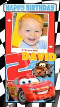 Disney Pixar Cars 2 Custom Personalized Birthday Party Vertical Banner w/ Photo - $39.95