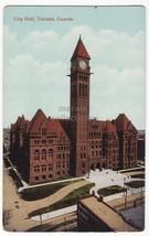 TORONTO Ontario, CITY HALL - c1910s vintage unused Canada postcard - $3.30
