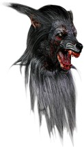 Black Werewolf Deluxe Latex Halloween Mask - £97.83 GBP