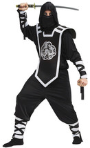 Deluxe Adult Black Ninja Halloween Costume - $51.47
