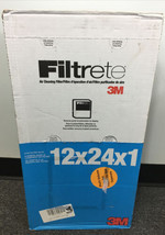 Filtrete 12x24x1 (11.6 x 23.6) air cleaning filter 600 Filter by 3M (6 Pack) NEW - $65.44