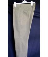 J. Crew Pants 32/34 Dark Khaki Inseam 32 waist 36 4 pockets 100% Cotton ... - $14.90