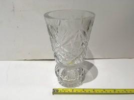 "GLASS VASE ARTISAN DECORATION FLOWER 8x4"" FLORAL INSTALLATION PALACE APA... - $5.99"