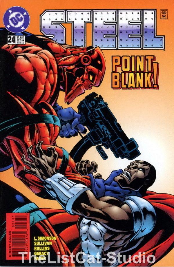 CMC-STL24 Vintage Comic STEEL Point Blank! No 24 FEB 1996 - $3.95