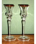 "Mikasa ""Jamestown"" Glass Candlesticks - Set of Two - Nice!! - $9.49"