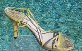 Stuart Weitzman Couture Lizard Leather Shoe Sandal New 8 Strapy Sexy Eve... - $108.00