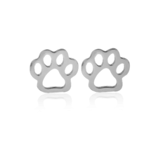 5 pairs of Paw Silver Plated Stud Earring Stud (NED163C) - $12.50