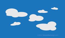 Set of Six Clouds Vinyl Wall Art - $10.95