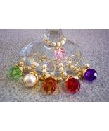 Wholesale 16 sets- Jewel Goldtone Wine Charms B... - $24.00