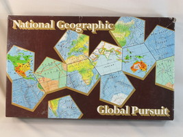 Global Pursuit Board Game 1987 National Geographic USA 100% Complete EUC @@ - $39.60