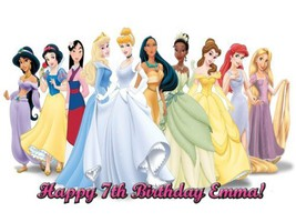 Single Source Party Supply - Disney Princess Edible Icing Image #16-8.25... - $8.54