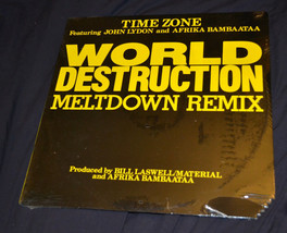 "sealed 12"" Time Zone World Destruction Meltdown rmx John Lydon Afrika Ba... - $14.98"