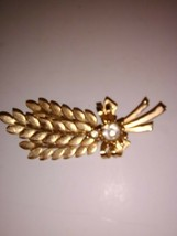 Sarah Coventry Brooch Leaf Spray Crystal Signed Piece - $27.58