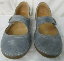 Naturalizer Womens Mary Janes Shoes Blue Suede Leather Kansas Size 7N - $21.77