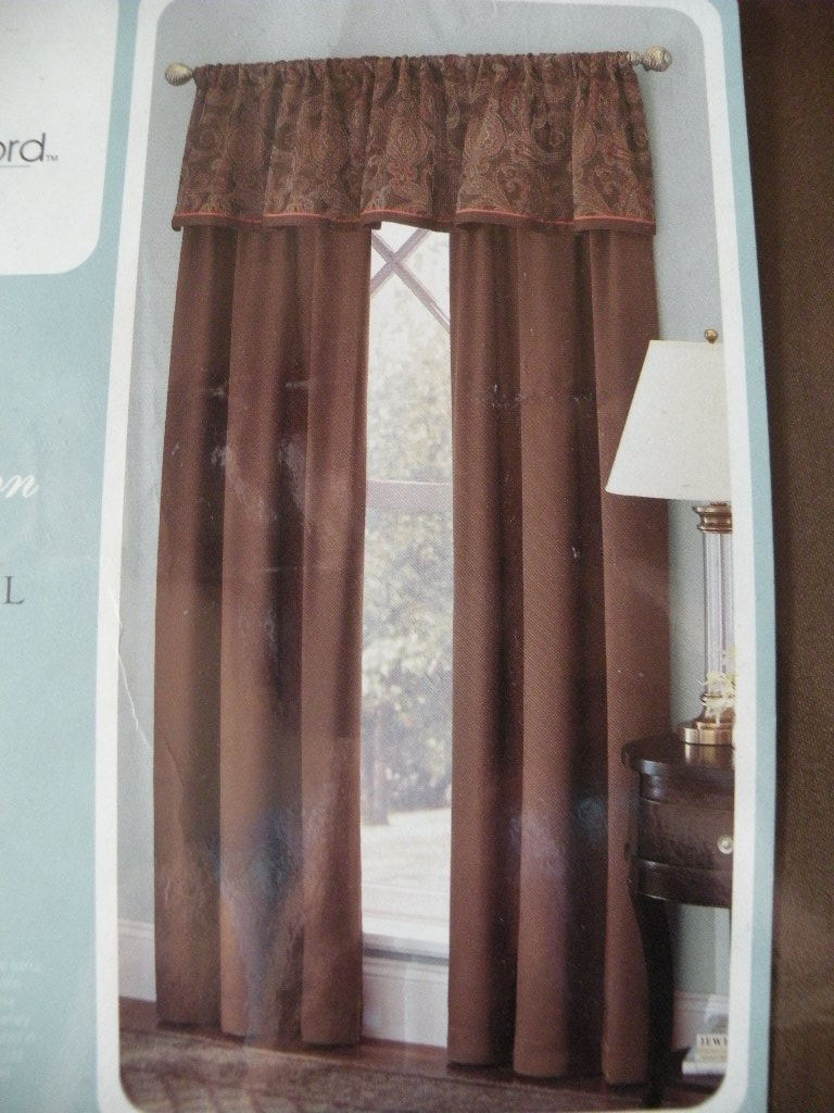 Cindy Crawford 84 L Window Treatment Drapes Drapery Pair Valances New Curtains Drapes