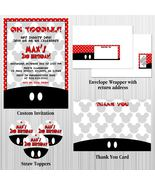 Mickey Mouse Custom Birthday, Baby Shower Party Package with Invitation - $28.00