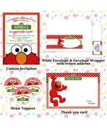 Elmo Custom Birthday, Baby Shower Party Package with Invitation - $28.00