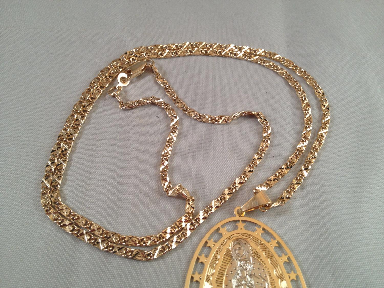 e6557c5f50938 Virgen de Guadalupe Cadena Dos Oro Rosario and 48 similar items